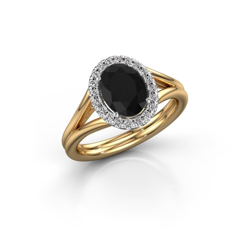 Bague de fiançailles Rachele 1 585 or jaune diamant noir 1.530 crt