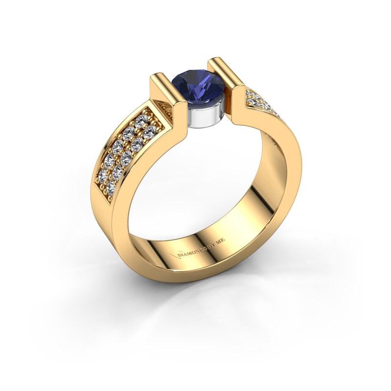 Verlovingsring Isabel 3 585 goud saffier 5 mm
