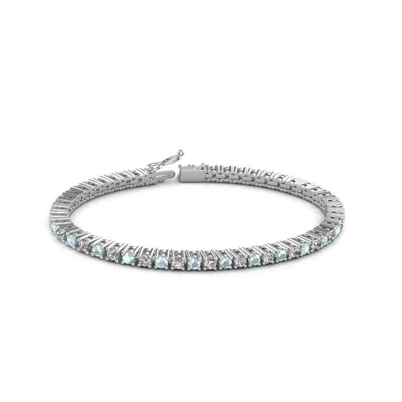 Tennis bracelet Petra 585 white gold aquamarine 3 mm