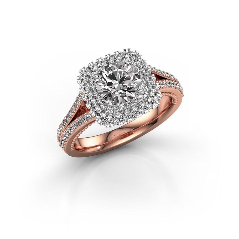Verlobungsring Annette 585 Roségold Diamant 1.618 crt