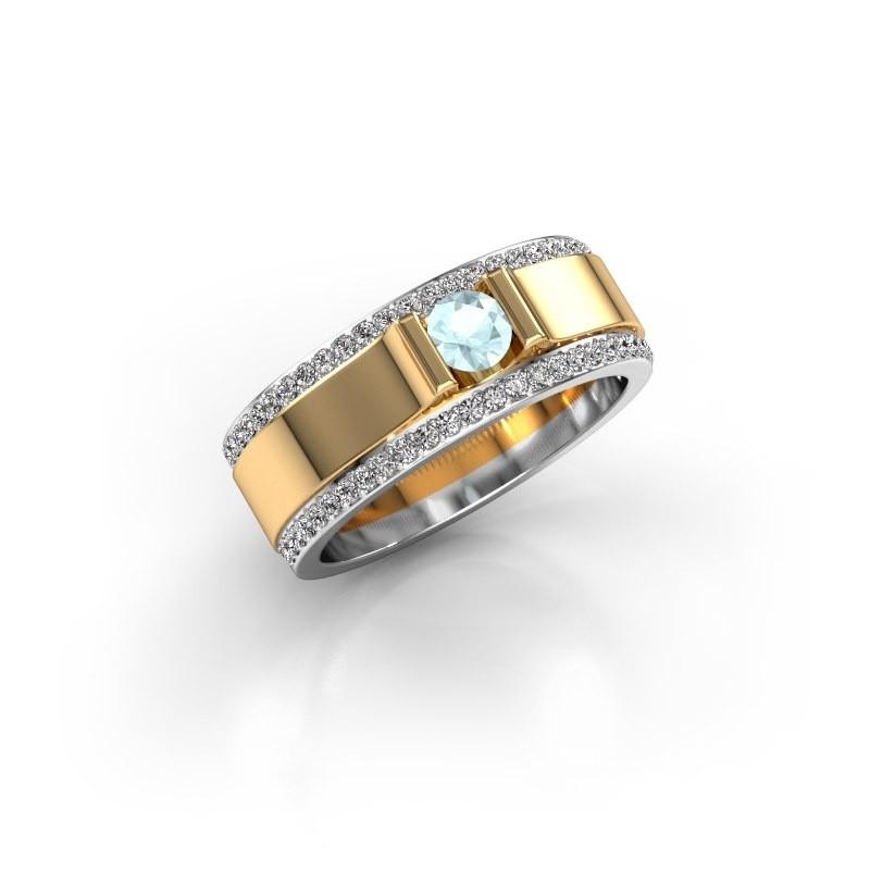 Men's ring Danillo 585 gold aquamarine 4.2 mm