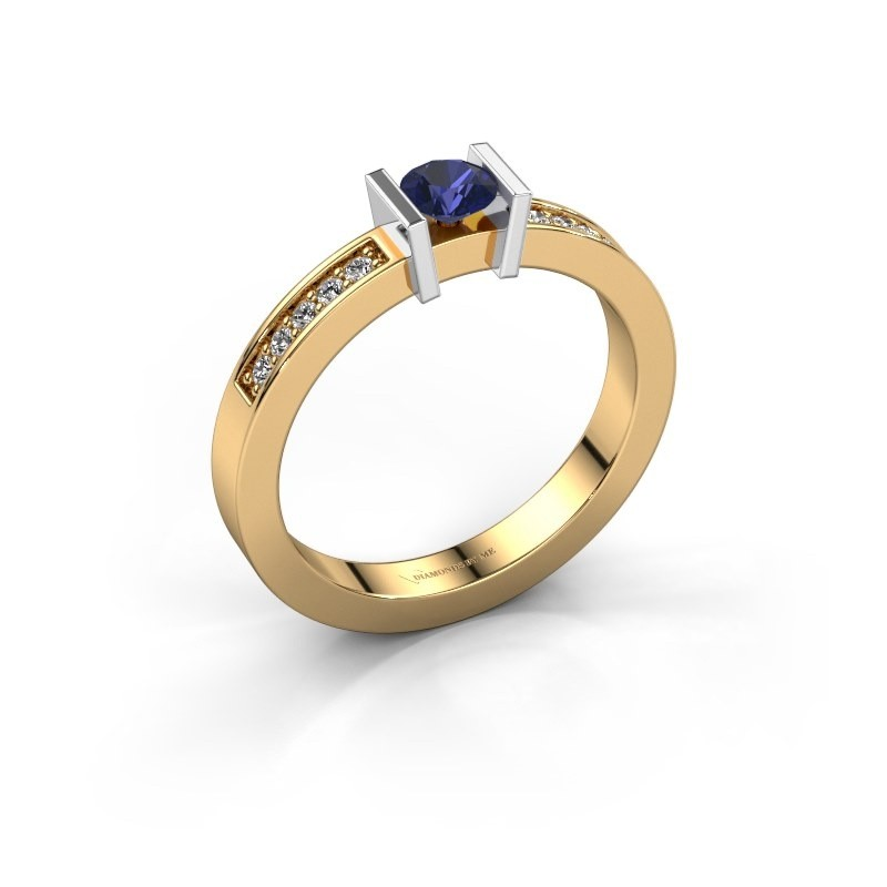 Engagement ring Maryam 585 gold sapphire 4 mm