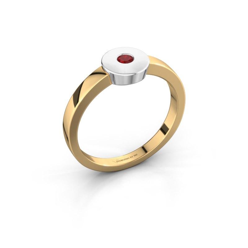 Ring Elisa 585 gold ruby 3 mm