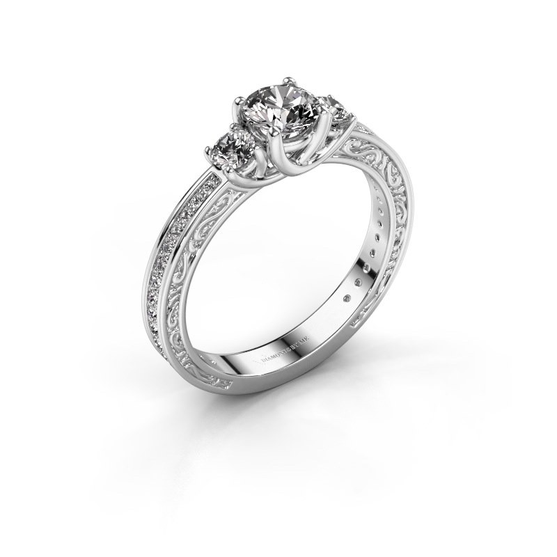 Verlovingsring Betty 2 585 witgoud diamant 0.957 crt