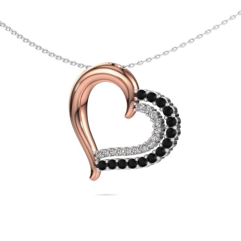 Necklace Kandace 585 rose gold black diamond 0.638 crt