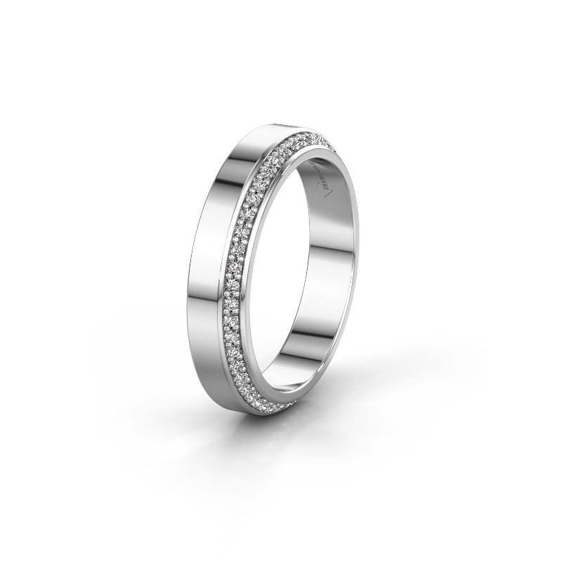 Trouwring WH2106L14C 925 zilver lab-grown diamant ±4x2.2 mm