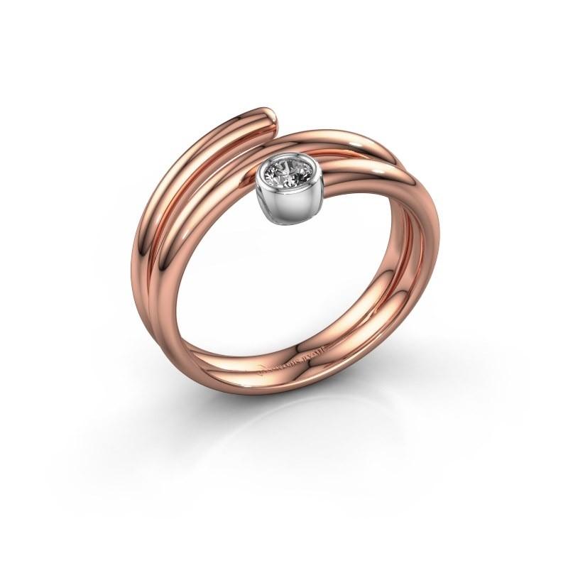 Ring Jenna 585 Roségold Lab-grown Diamant 0.10 crt