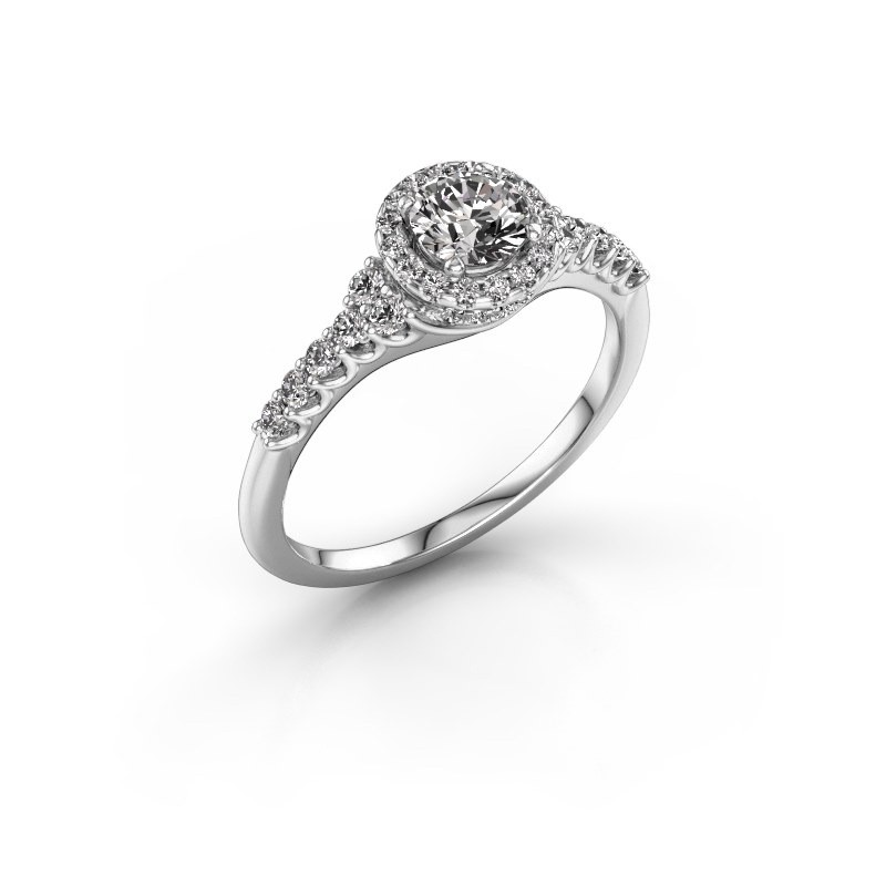 Verlovingsring Loralee 585 witgoud diamant 0.873 crt