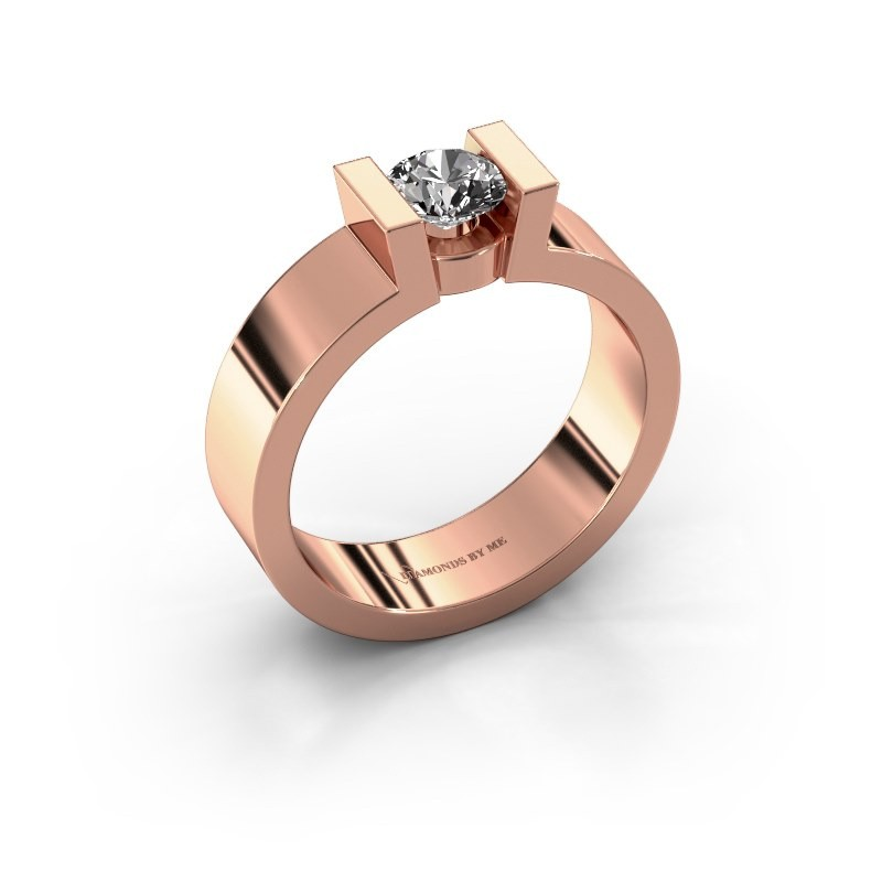 Verlovingsring Lieve 1 375 rosé goud diamant 0.50 crt