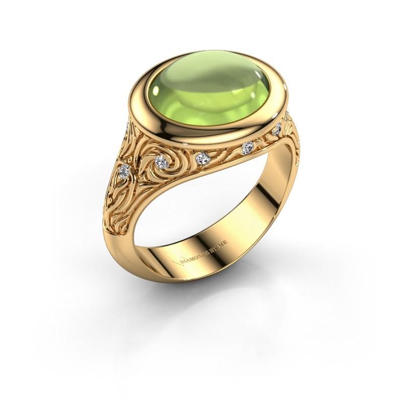 Ring Natacha 585 goud peridoot 12x10 mm
