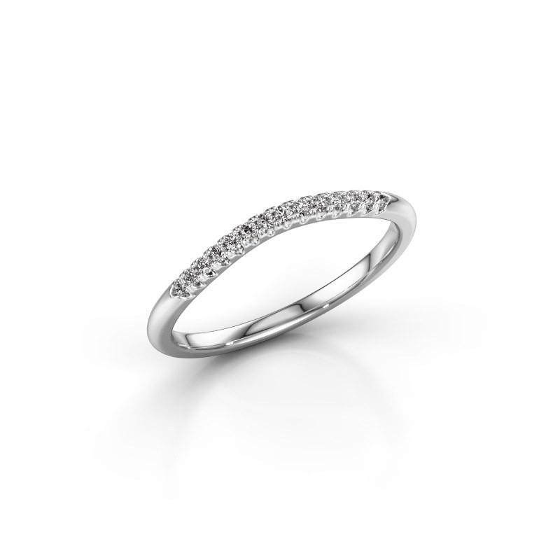Stackable ring SR10A4H 950 platinum diamond 0.113 crt
