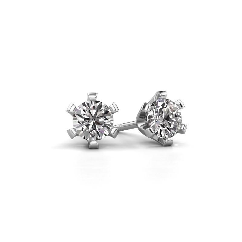 Oorstekers Shana 925 zilver diamant 0.40 crt
