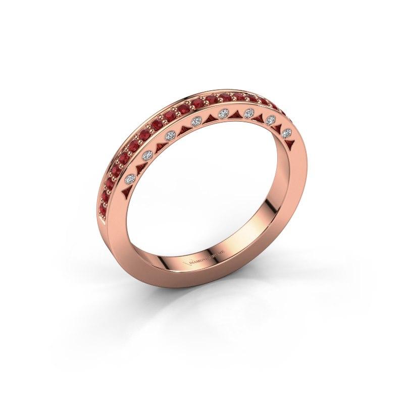 Ring Yasmine 585 rose gold ruby 1.2 mm