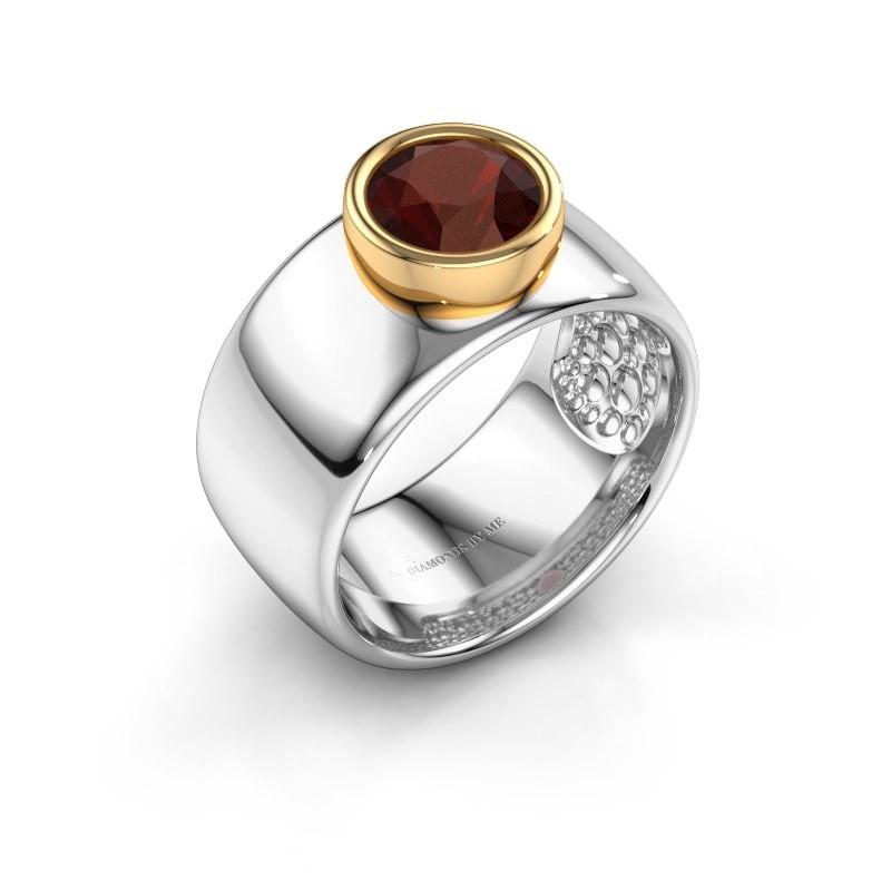 Ring Klarinda 585 white gold garnet 7 mm