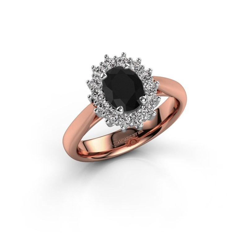 Verlobungsring Margien 1 585 Roségold Schwarz Diamant 0.96 crt