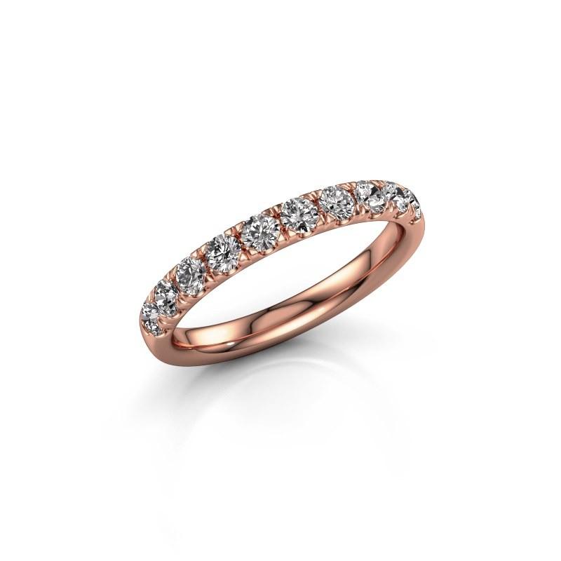 Aanschuifring Jackie Half 375 rosé goud lab-grown diamant 0.55 crt