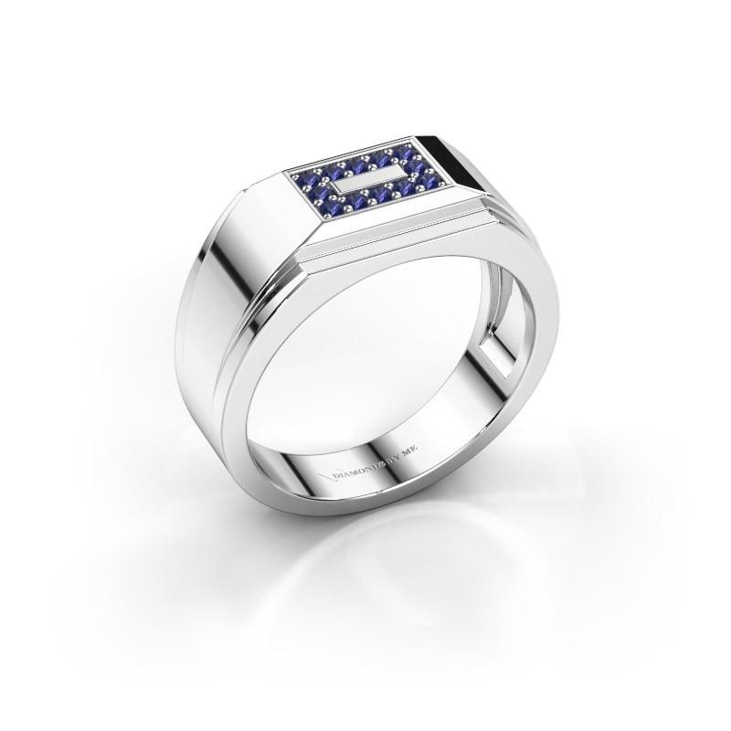Men's ring Roan 585 white gold sapphire 1.5 mm
