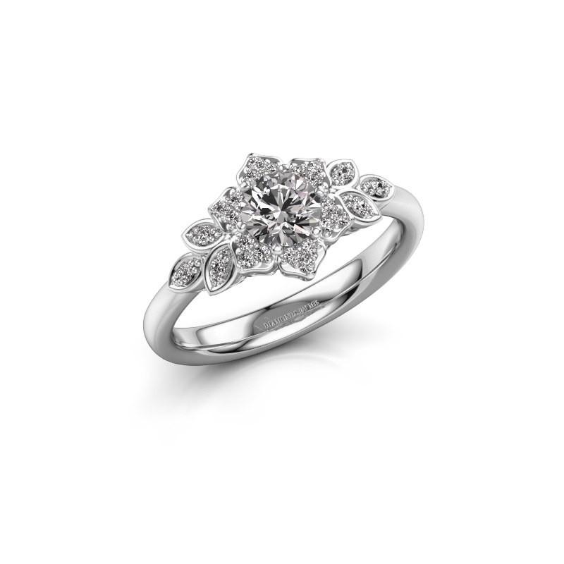 Verlovingsring Tatjana 585 witgoud diamant 0.635 crt