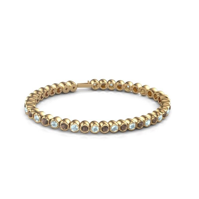 Tennisarmband Mellisa 375 goud rookkwarts 3.5 mm