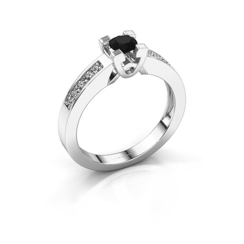 Verlovingsring Nina 2 950 platina zwarte diamant 0.52 crt