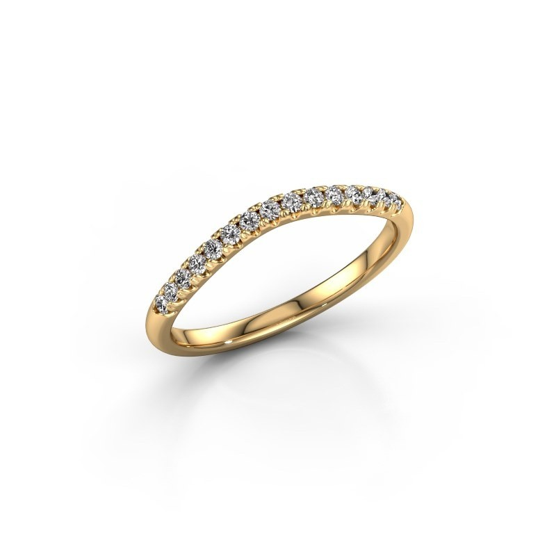Zijring SR10A6H 375 goud lab-grown diamant 0.168 crt