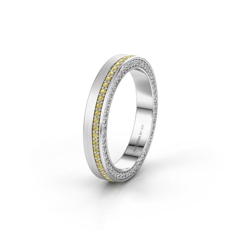 Wedding ring WH2214L15BM 925 silver yellow sapphire 1 mm ±5x2 mm