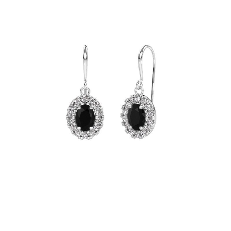 Drop earrings Jorinda 1 950 platinum black diamond 2.48 crt