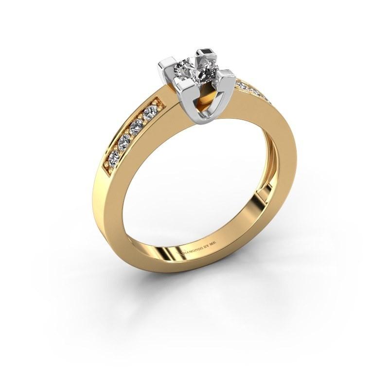 Aanzoeksring Anne 2 585 goud lab-grown diamant 0.30 crt