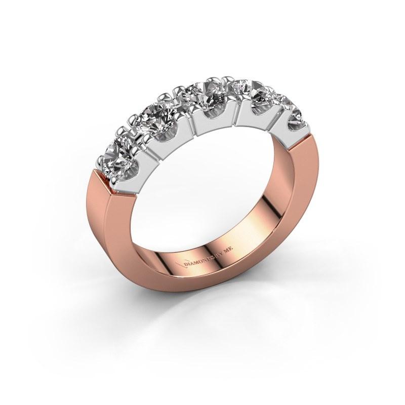 Engagement ring Dana 5 585 rose gold diamond 1.25 crt