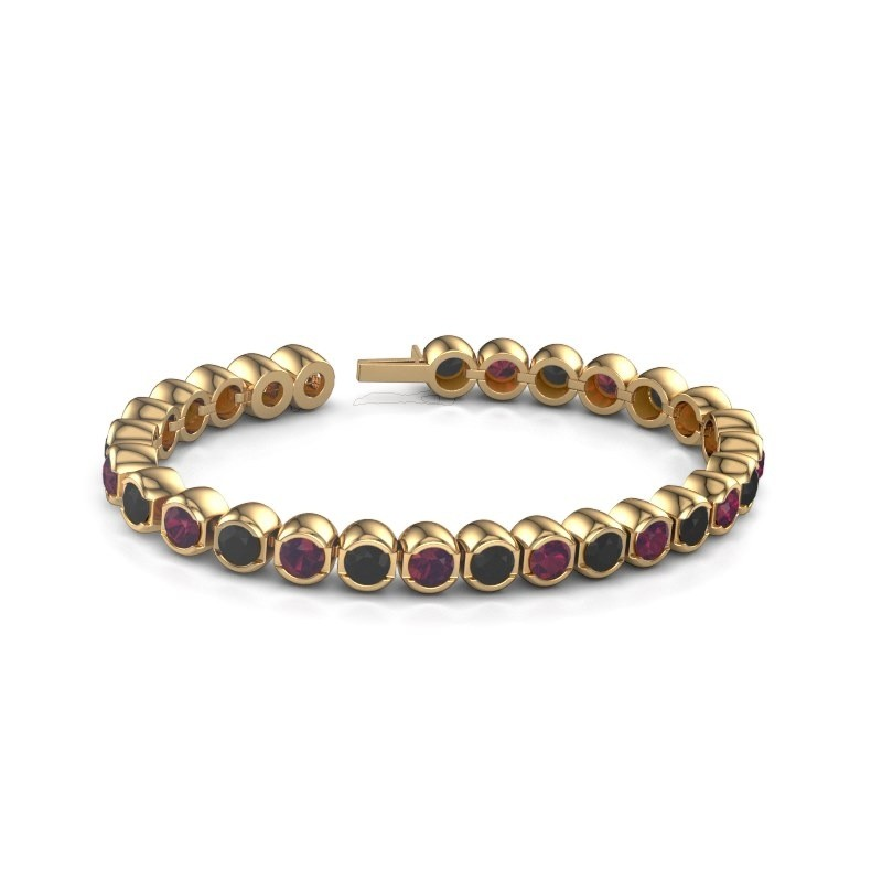 Tennisarmband Delma 375 goud rhodoliet 5 mm