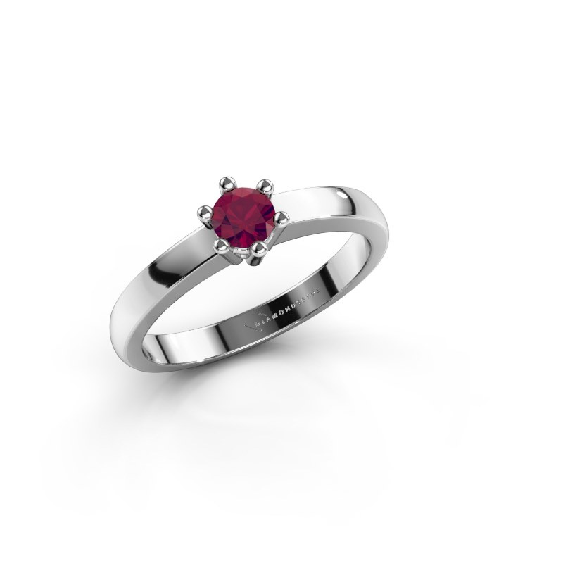 Engagement ring Luna 1 950 platinum rhodolite 3.7 mm