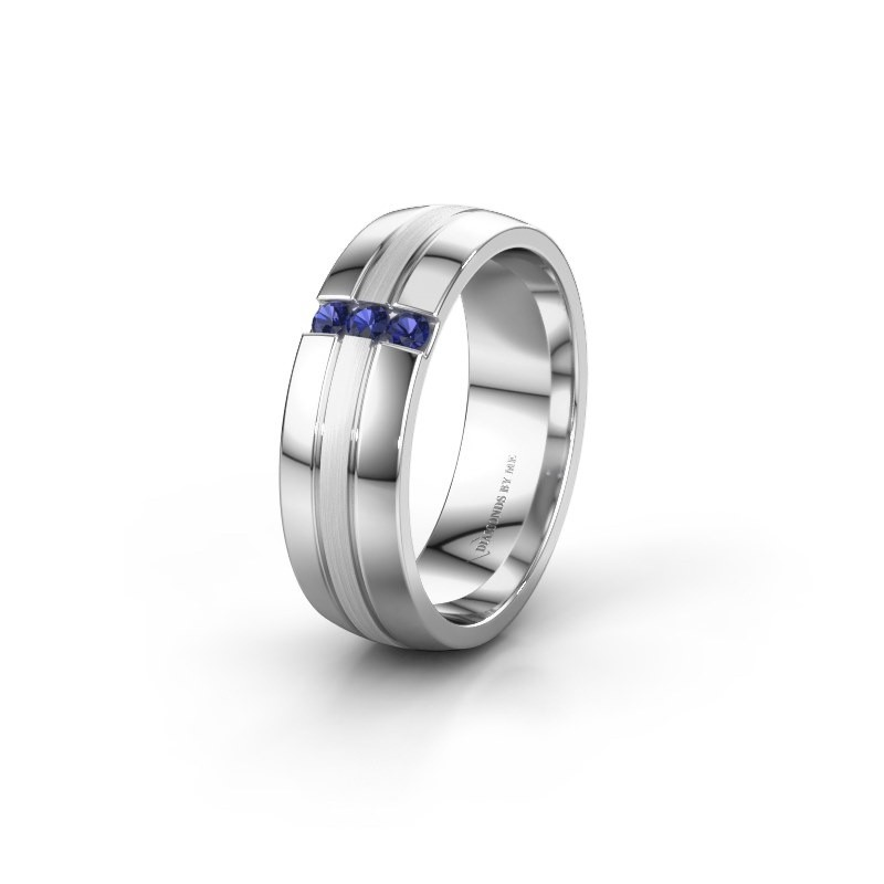 Wedding ring WH0426L26A 950 platinum sapphire ±0.24x0.07 in