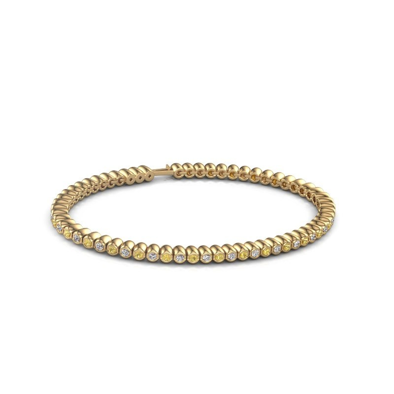 Tennisarmband Trix 375 goud gele saffier 2 mm