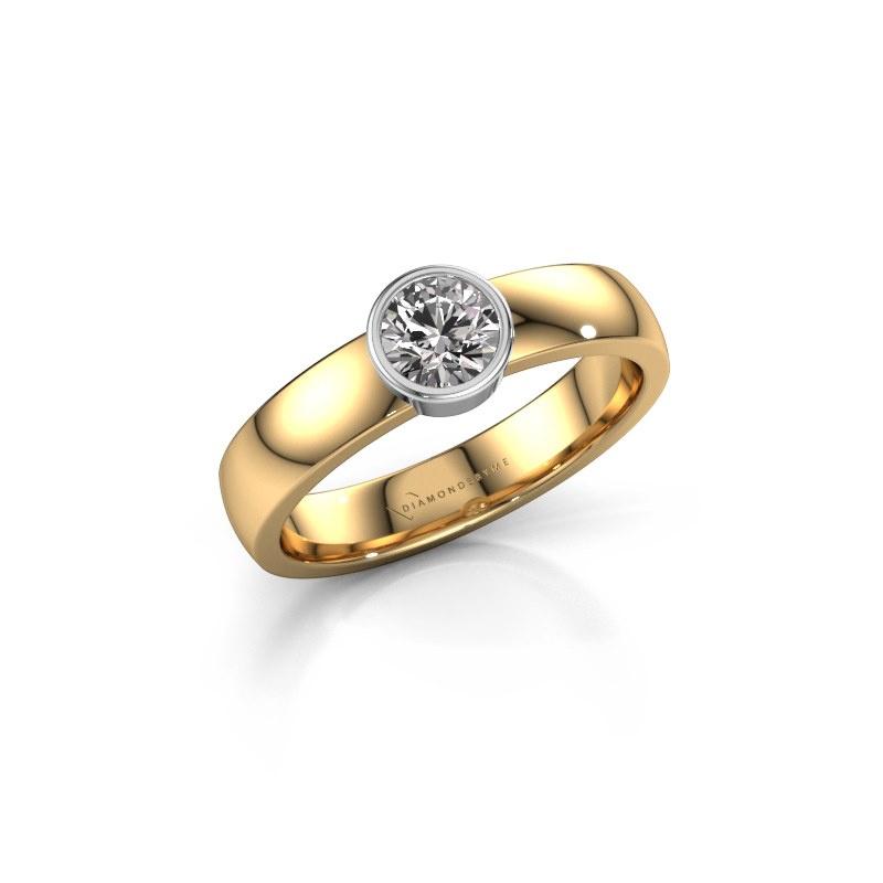 Ring Ise 1 585 gold lab grown diamond 0.40 crt