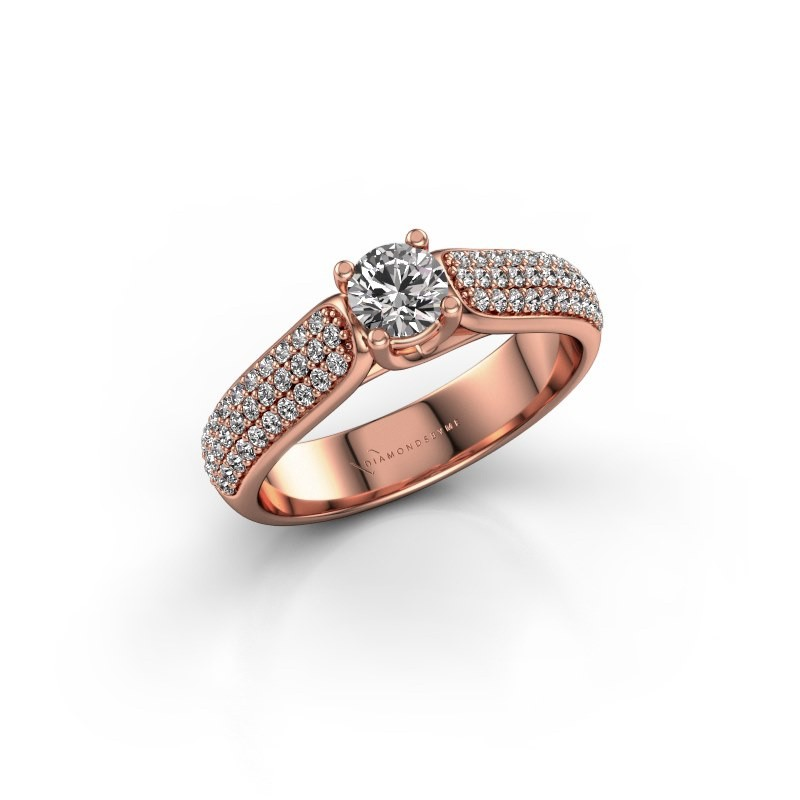 Engagement ring Leoness 375 rose gold diamond 0.30 crt