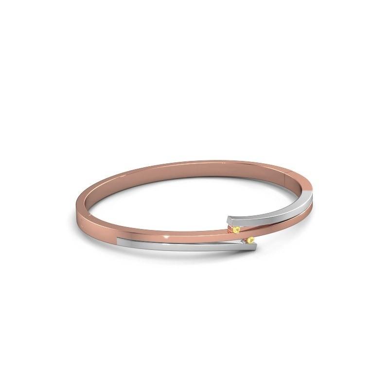 Armband Roxane 585 rosé goud gele saffier 2 mm