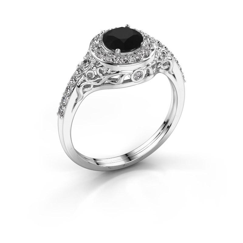 Ring Yurani 950 platina zwarte diamant 1.38 crt