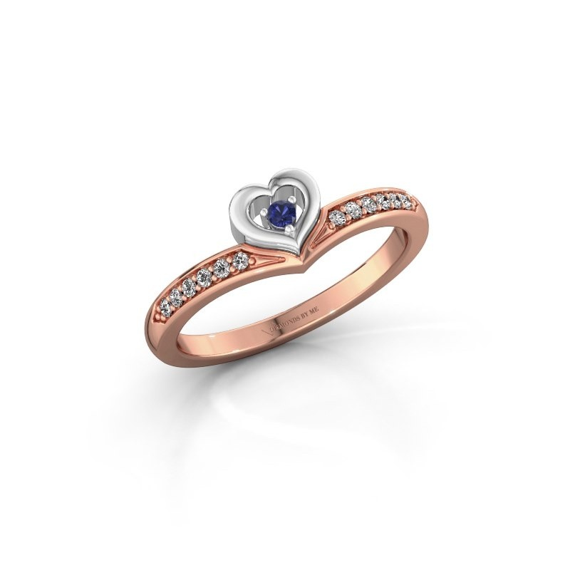 Ring Mimi 585 rose gold sapphire 2 mm