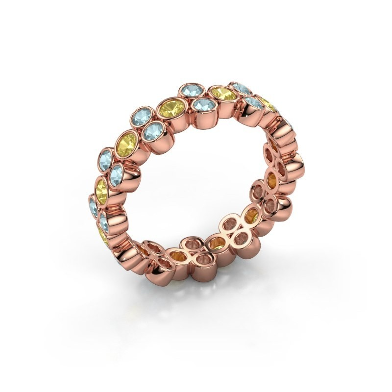 Ring Victoria 375 rose gold yellow sapphire 2.4 mm