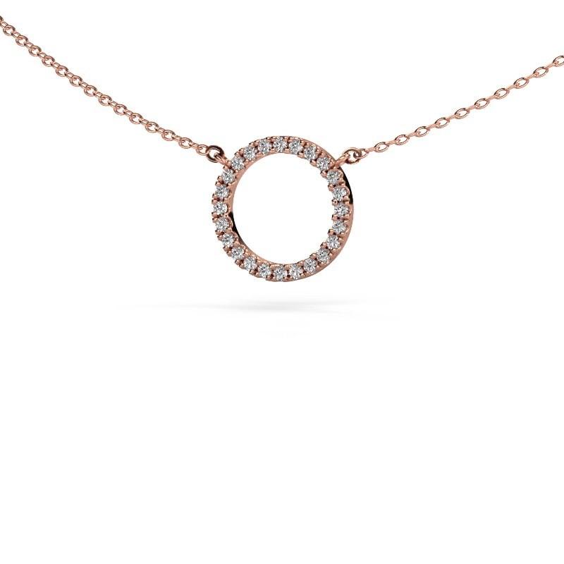 Hanger Circle 375 rosé goud diamant 0.18 crt