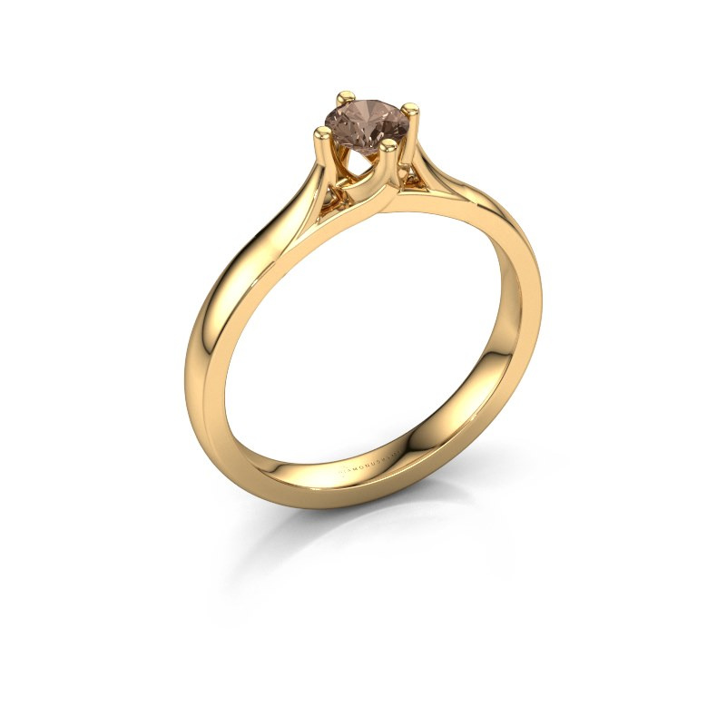 Verlovingsring Eva 585 goud bruine diamant 0.30 crt