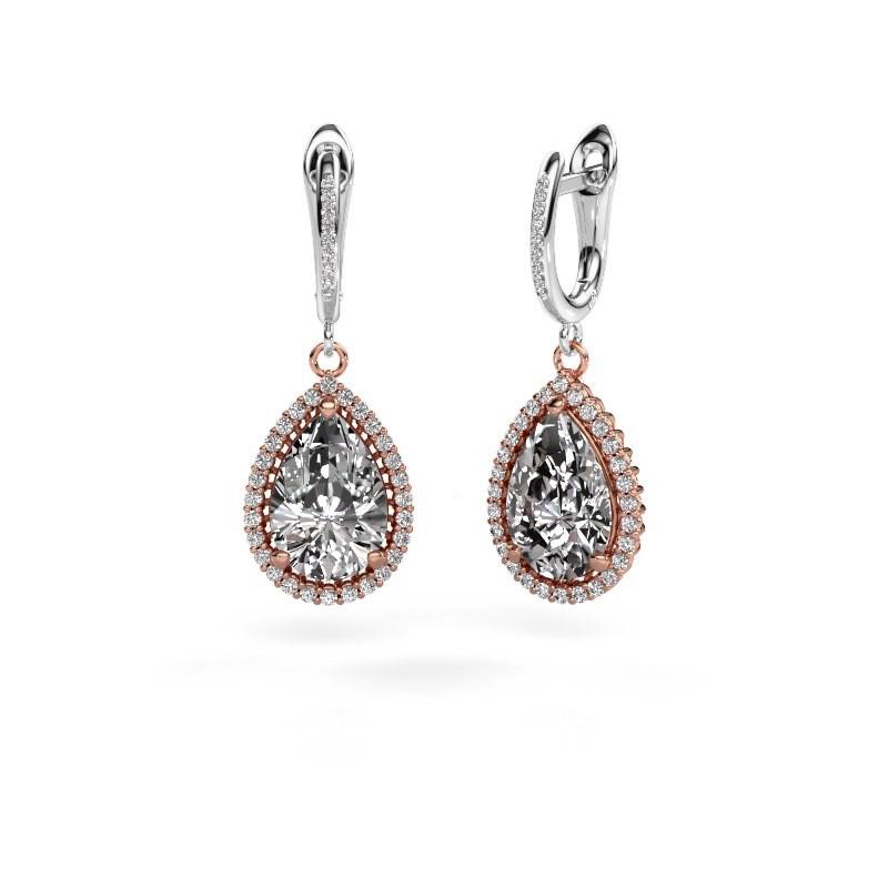 Pendants d'oreilles Tilly per 4 585 or rose diamant 3.00 crt
