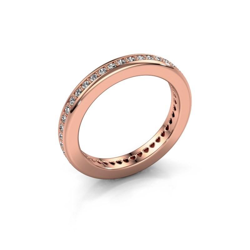 Aanschuifring Elvire 3 375 rosé goud zirkonia 1.3 mm