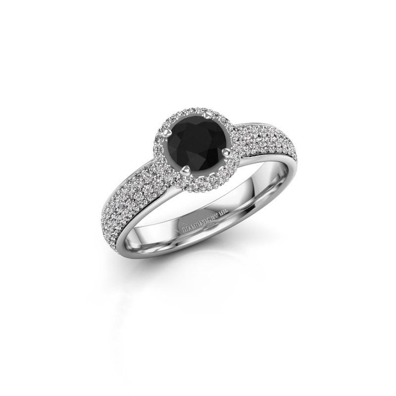 Engagement ring Mildred 925 silver black diamond 1.411 crt