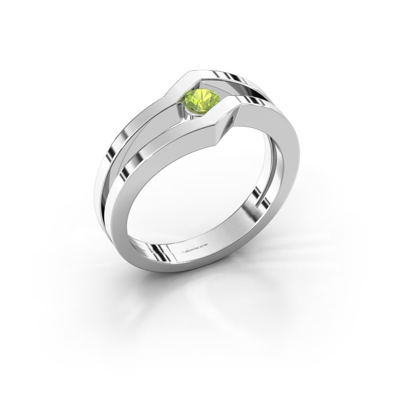 Ring Elize 925 silver peridot 3.4 mm