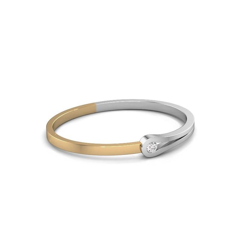 Slavenarmband Kiki 585 witgoud diamant 0.40 crt