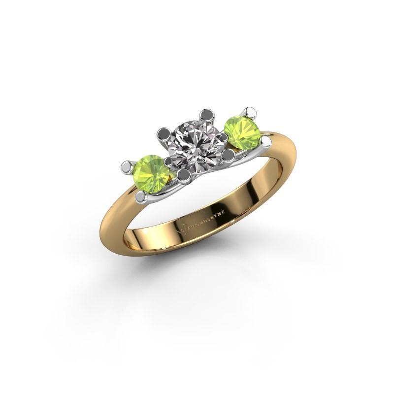 Bague Mirthe 585 or jaune diamant 0.50 crt