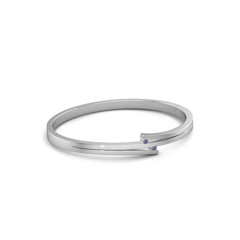 Armband Roxane 950 platina saffier 2 mm