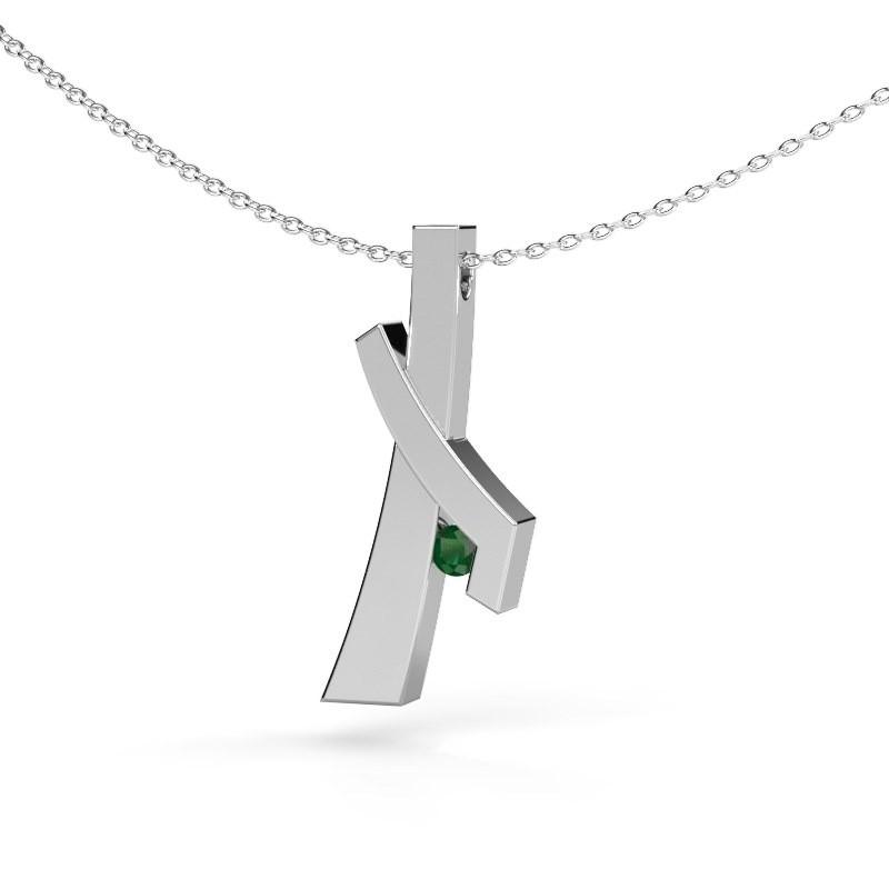 Hanger Alyssa 925 zilver smaragd 2.7 mm