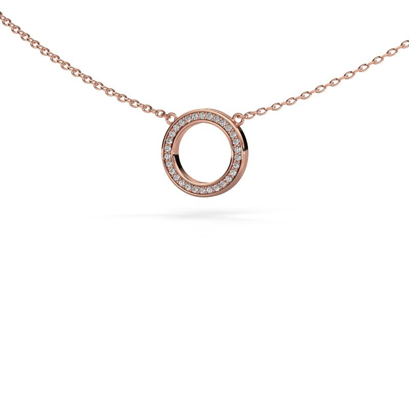 Hanger Round 1 375 rosé goud diamant 0.075 crt